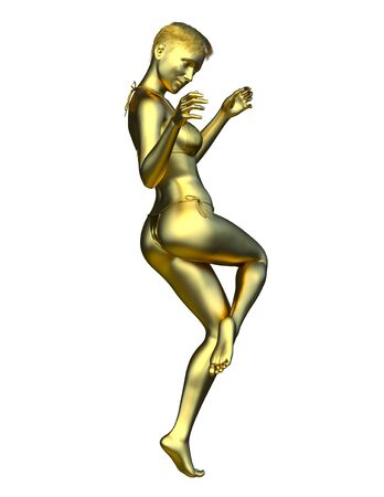 3D CG rendering of woman statue