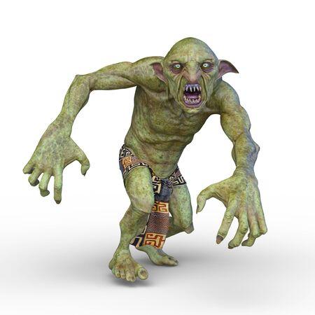 3D CG rendering of goblin 写真素材 - 125660611