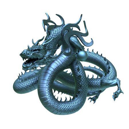 3D CG rendering of Flying Dragon 写真素材 - 126121341
