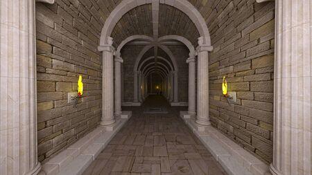 3D CG rendering of ancient ruins Foto de archivo - 126405285