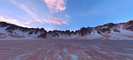 3D CG rendering of wilderness 写真素材