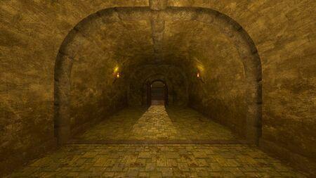 3D CG rendering of ancient ruins Foto de archivo - 126889499