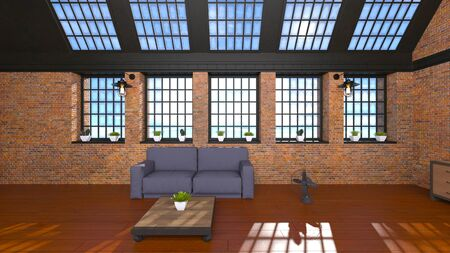 3D CG rendering of room