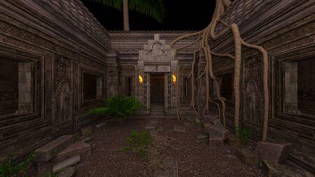 3D CG rendering of ancient ruins 写真素材