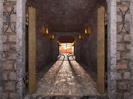 3D CG rendering of ancient ruins Foto de archivo - 127257113