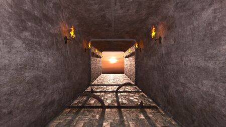 3D CG rendering of ancient ruins Stock Photo
