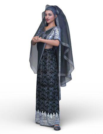 3D CG rendering of Indian woman