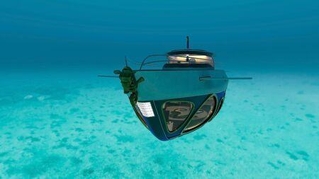 3D CG rendering of Submarine Stock fotó