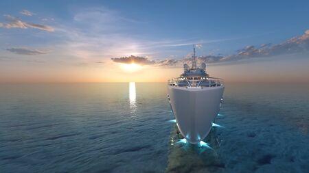 3D CG rendering of ship Stock fotó