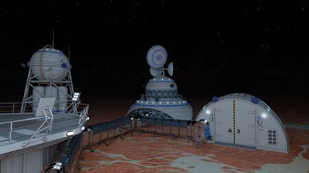 3D CG rendering of Space lab