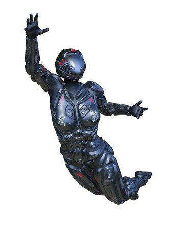 3D CG rendering of cyber woman Stockfoto - 128958139