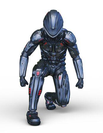 3D CG rendering of cyber man