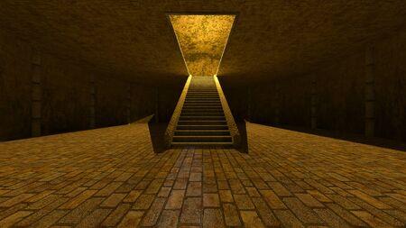 3D CG rendering of ancient ruins Reklamní fotografie