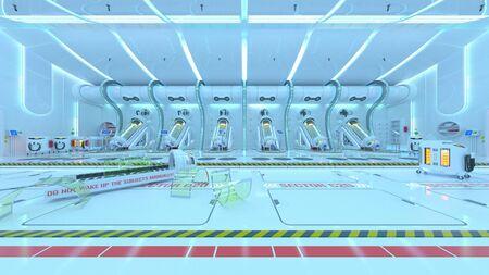 3D CG rendering of Medical space 写真素材