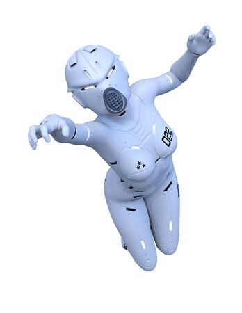 3D CG rendering of cyber woman Stockfoto - 128820570