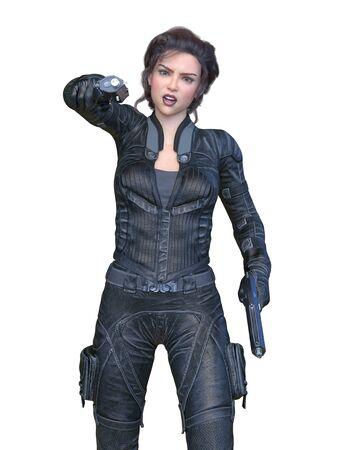 3D CG rendering of heroine Stockfoto - 128820851