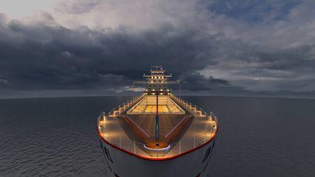 3D CG rendering of ship 写真素材