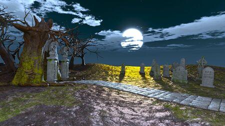 3D CG rendering of halloween