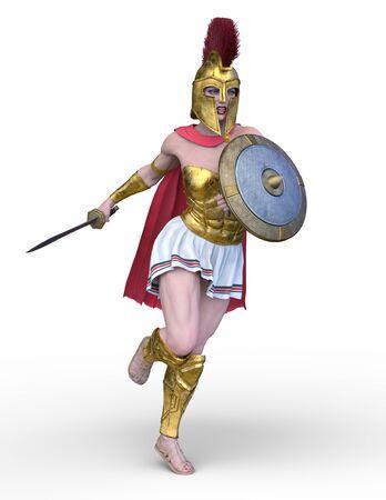 3D CG rendering of Sexy warrior Stockfoto - 128856690