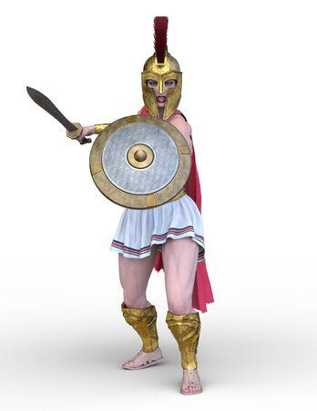 3D CG rendering of Sexy warrior 写真素材