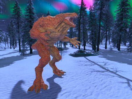 3D CG rendering of alien 写真素材 - 128820072