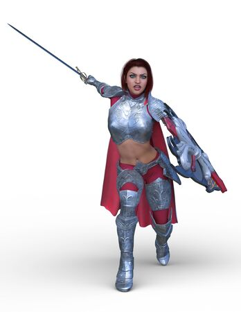 3D CG rendering of Sexy warrior Stockfoto - 128857087