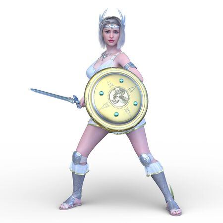 3D CG rendering of Sexy warrior Stockfoto