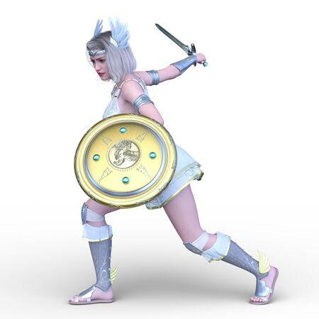 3D CG rendering of Sexy warrior Stockfoto - 128958378