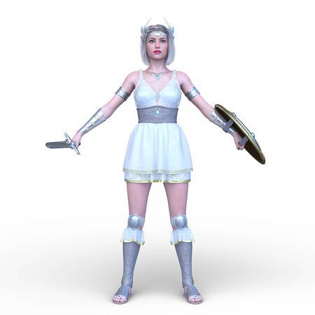 3D CG rendering of Sexy warrior Stockfoto - 128958713