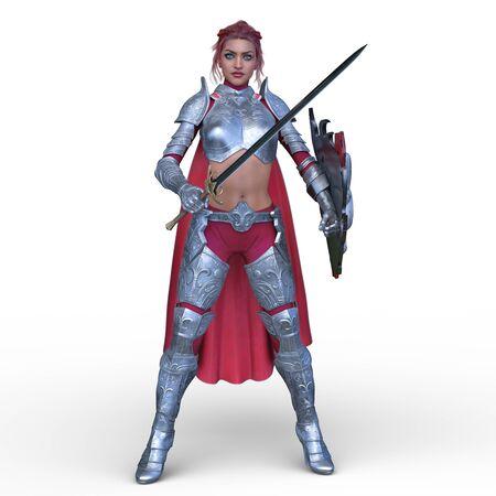 3D CG rendering of Sexy warrior Stockfoto - 129189713