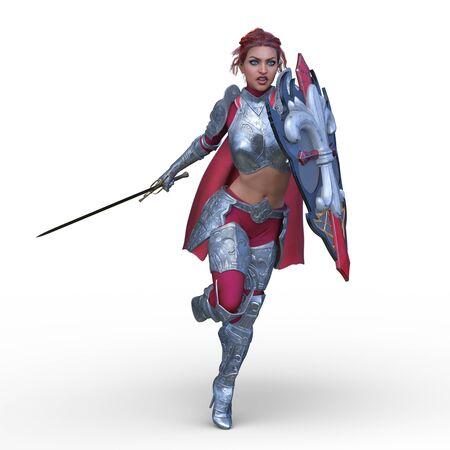 3D CG rendering of Sexy warrior Stockfoto - 129189943