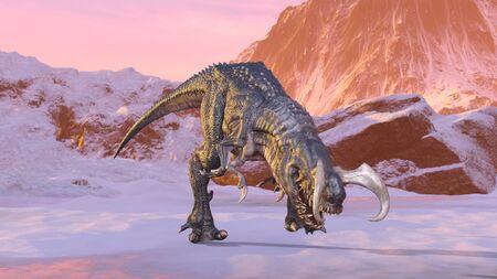 3D CG rendering of Dinosaur 스톡 콘텐츠 - 129221925