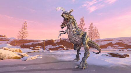 3D CG rendering of Dinosaur 스톡 콘텐츠 - 129221993