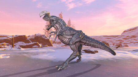 3D CG rendering of Dinosaur
