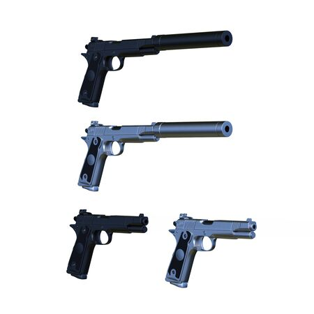 3D CG rendering of gun Stok Fotoğraf
