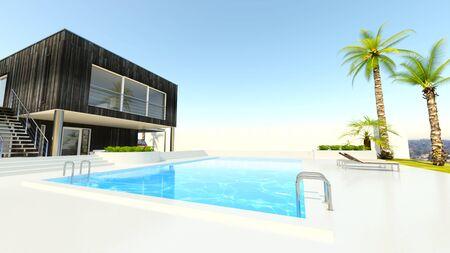 3D CG rendering of residence Reklamní fotografie