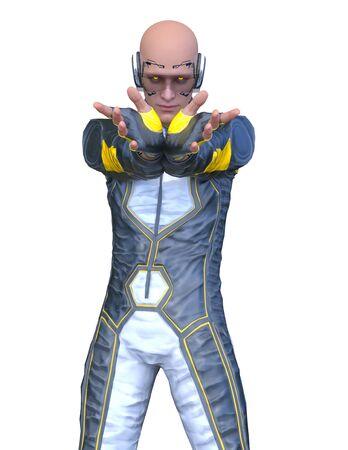3D CG rendering of hero Imagens
