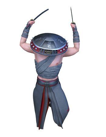 3D CG rendering of monk