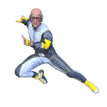 3D CG rendering of hero 版權商用圖片