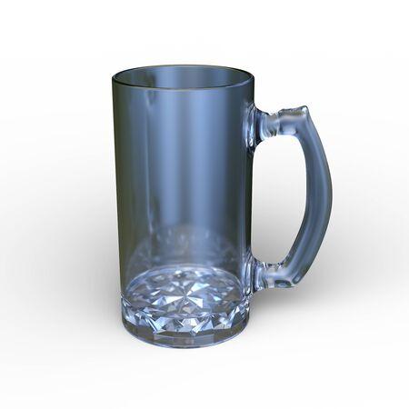 3D CG rendering of glass
