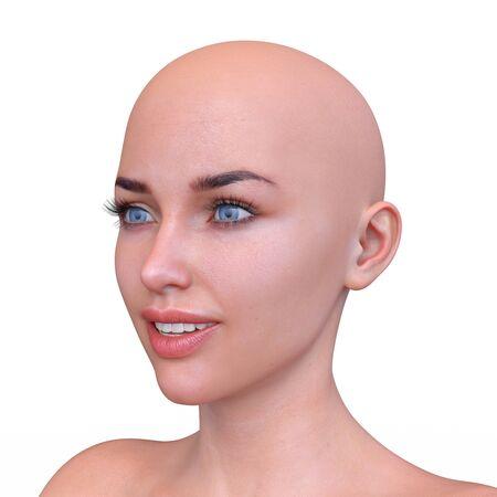 3D CG rendering of Woman's face Archivio Fotografico - 130051806
