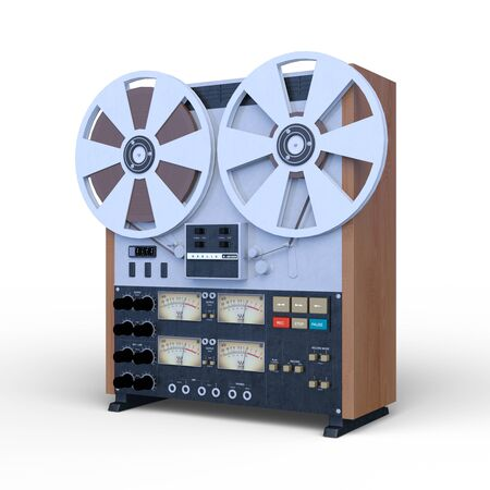 3D CG rendering of Reel-to-Reel Tape Recorders