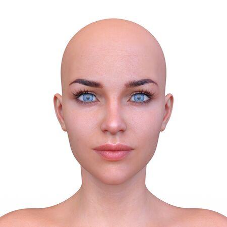 3D CG rendering of Woman's face Archivio Fotografico - 130051889