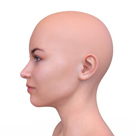 3D CG rendering of Woman's face Archivio Fotografico - 130051896