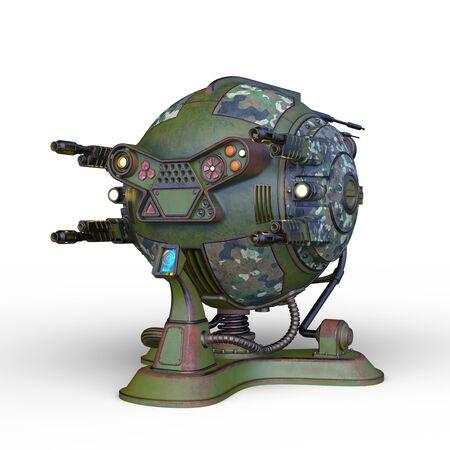 3D CG rendering of Sci-Fi Drone Robot Banco de Imagens - 130051935