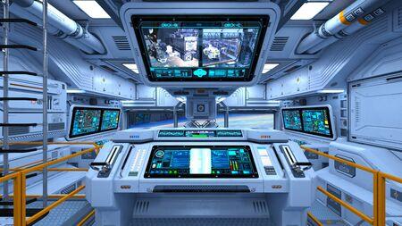 3D-CG-Rendering des Raumschiffs