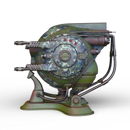 3D CG rendering of Sci-Fi Drone Robot Banco de Imagens - 130052070
