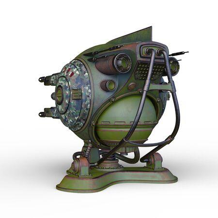 3D CG rendering of Sci-Fi Drone Robot Banco de Imagens - 130052076