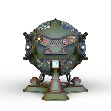 3D CG rendering of Sci-Fi Drone Robot Banco de Imagens