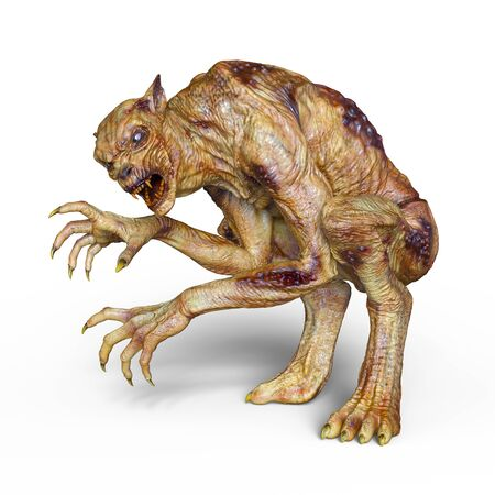 3D CG rendering of monster Stock Photo